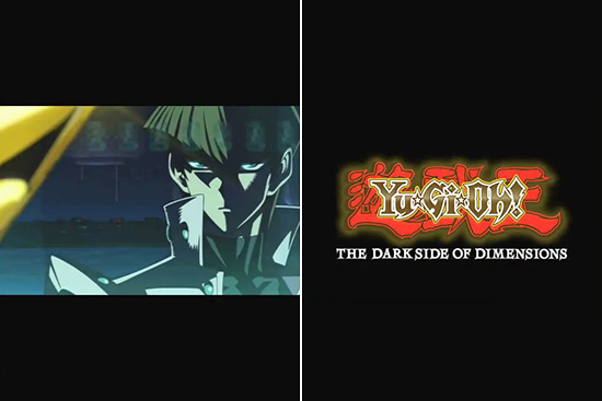 Seto Kaiba and the Yu-Gi-Oh! The Dark Side of Dimensions logo in Yu-Gi-Oh! Duel Links