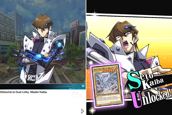 Seto Kaiba and Blue-Eyes White Dragon in Yu-Gi-Oh! Duel Links