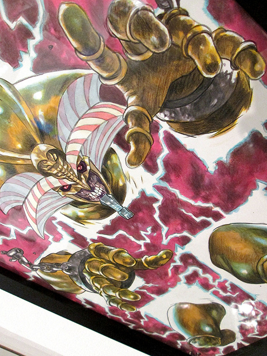 Close-up of Exodia by Beau Berkley at the Yu-Gi-Oh! Tribute Art Show NYC