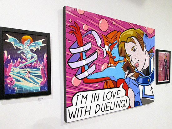 I'm In Love... With Dueling! and other works on display at the Yu-Gi-Oh! Tribute Art Show NYC