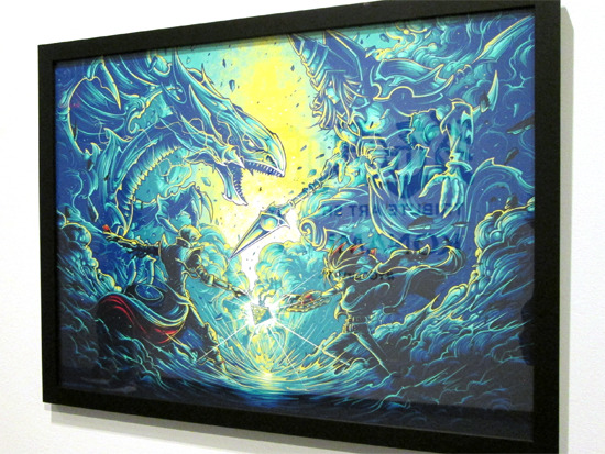 It's time to duel. by Dan Mumford at the Yu-Gi-Oh! Tribute Art Show NYC