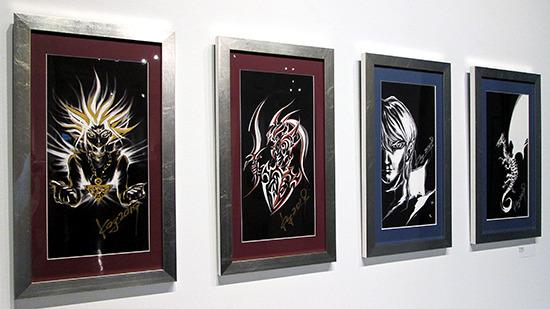 All of Kazuki Takahashi's artwork on display at the Yu-Gi-Oh! Tribute Art Show NYC