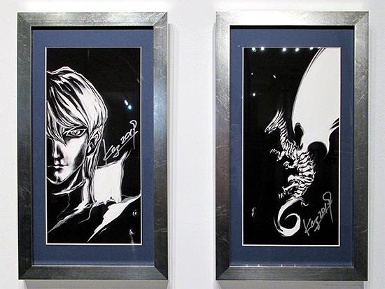 Kazuki Takahashi's new artwork of Kaiba and Blue-Eyes White Dragon at the Yu-Gi-Oh! Tribute Art Show NYC