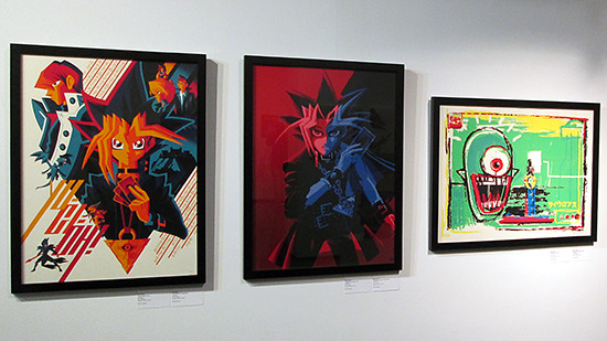 King of Games, The Millennium Puzzle, and Hitotsu-Me Giant on display at the Yu-Gi-Oh! Tribute Art Show NYC