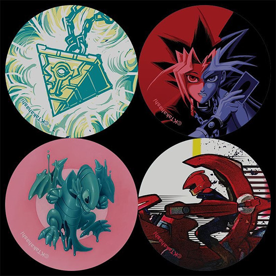 New buttons given to visitors at the Yu-Gi-Oh! Tribute Art Show NYC