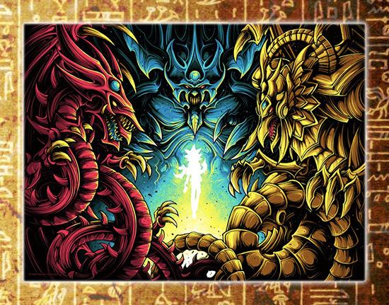 New screen print by Dan Mumford on sale at the Yu-Gi-Oh! Tribute Art Show NYC