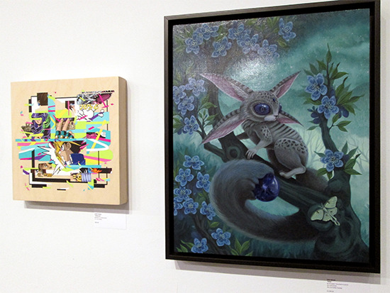 Obliterate and Ruby on display at the Yu-Gi-Oh! Tribute Art Show NYC