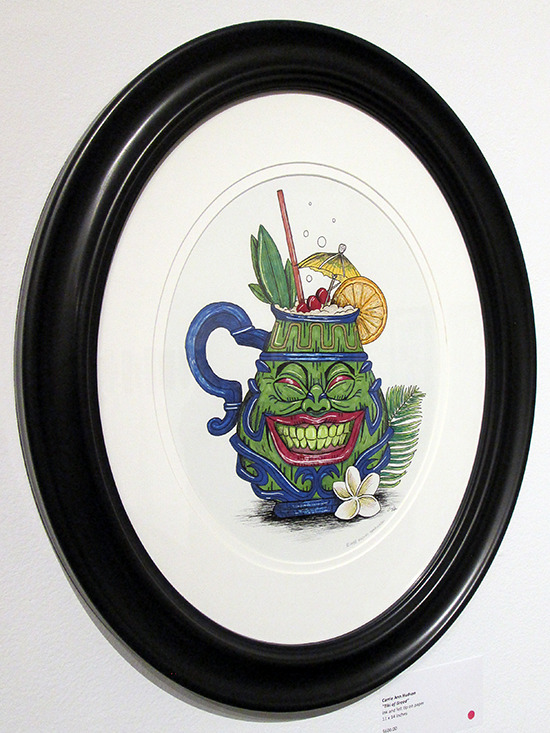 Tiki of Greed on display at the Yu-Gi-Oh! Tribute Art Show NYC