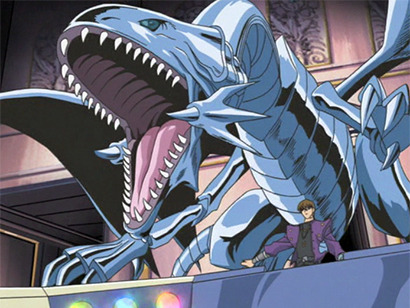 Blue-Eyes White Dragon and Seto Kaiba in episode 149