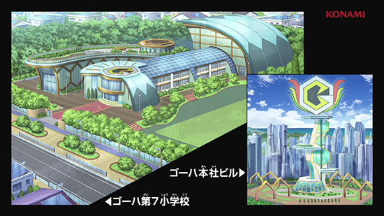 Goha City, the setting of Yu-Gi-Oh! Sevens