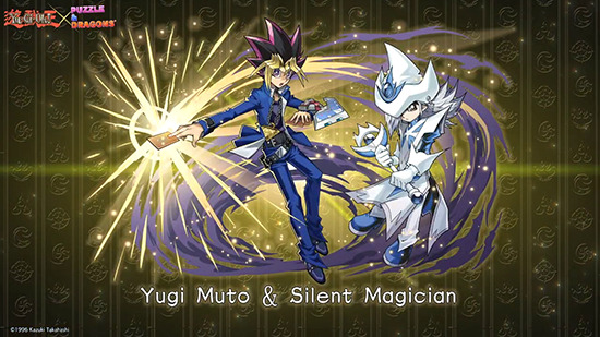 Yugi Muto and Silent Magician in Puzzle & Dragons