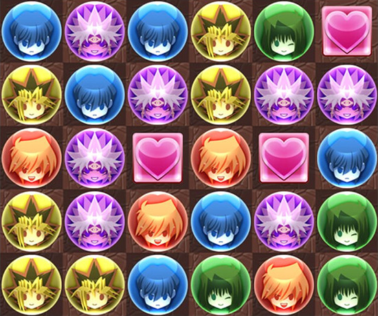 Yu-Gi-Oh! Duel Monsters orbs skin in Puzzle & Dragons