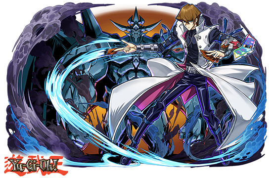 Seto Kaiba and Obelisk the Tormentor in Puzzle & Dragons