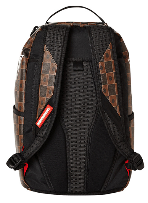Back of Sprayground's Yu-Gi-Oh! Duel Disk backpack