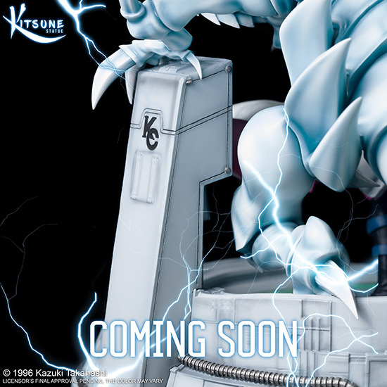 Kitsune Statue teases Seto Kaiba with Blue-Eyes Ultimate Dragon resin statue