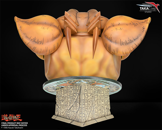 Rear view of Taka Corp Studio's Exodia bust