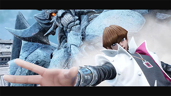 Seto Kaiba with Obelisk the Tormentor in Jump Force