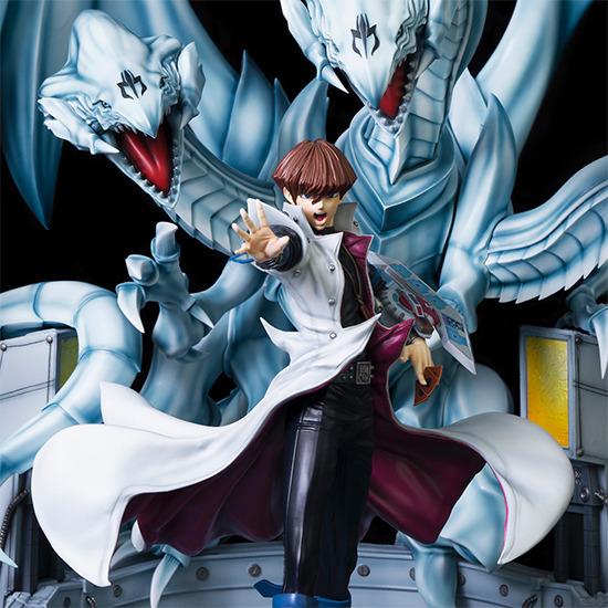 Seto Kaiba with Blue-Eyes Ultimate Dragon by Kitsune Statue