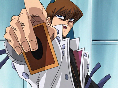 Seto Kaiba ordering his monster to attack in episode 124