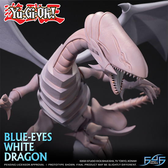 Unpainted physical prototype of Blue-Eyes White Dragon by First 4 Figures
