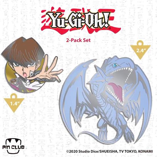 Chibi Seto Kaiba and Blue-Eyes White Dragon pins by Pin Club