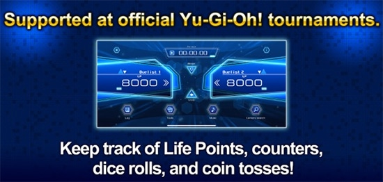 Yu-Gi-Oh! NEURON keeps track of life points, counters, dice rolls, and coin tosses