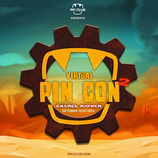 Pin Club's Virtual Pin Con 2.0 sales event logo