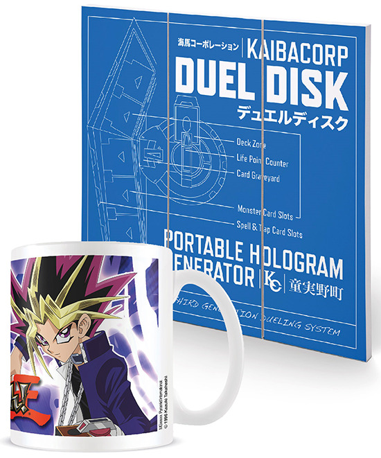 Mock-ups of Pyramid International's Yu-Gi-Oh! products