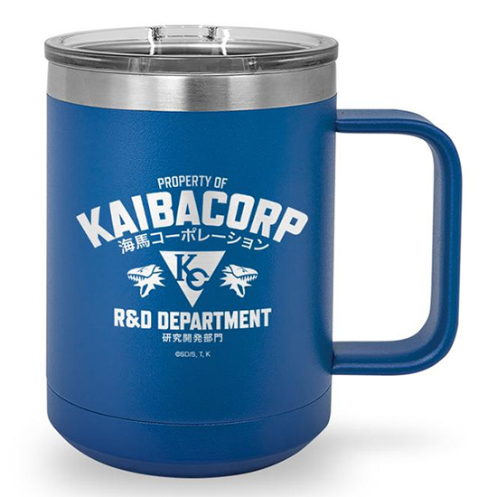KaibaCorp R&D Department stainless steel coffee mug from Shop-YuGiOh.com