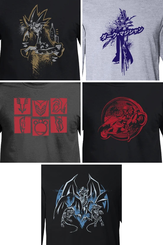 Exclusive shirt designs from previous conventions on Shop-YuGiOh.com