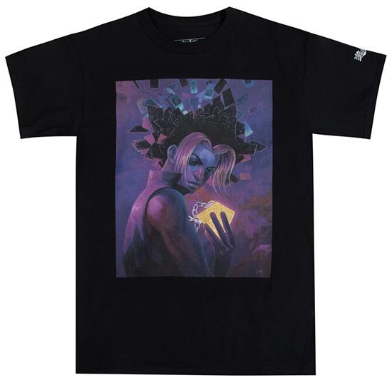Atsuko black short-sleeve T-shirt inspired by Aaron Jasinski's Millennium Mind
