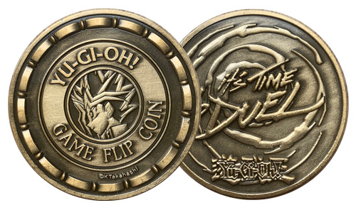 Obverse and reverse of the Yu-Gi-Oh! Game Flip Coin by Fanattik