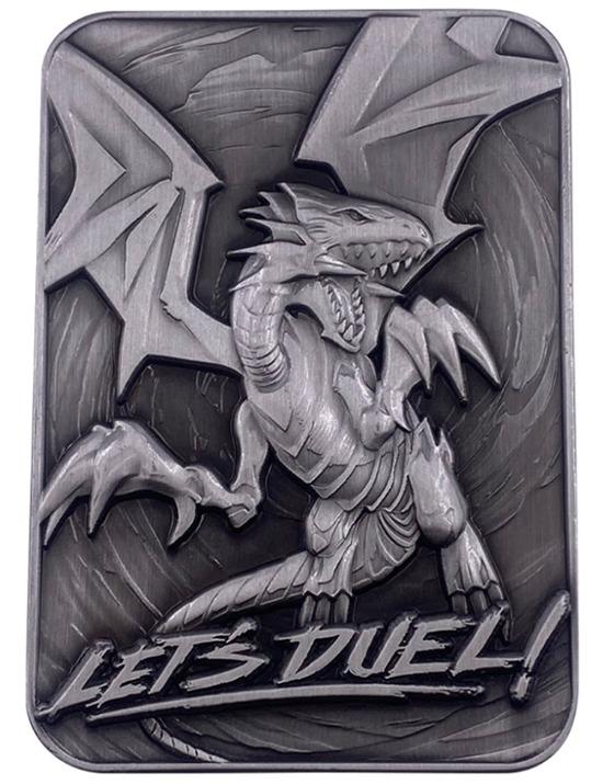 Blue-Eyes White Dragon metal card by Fanattik