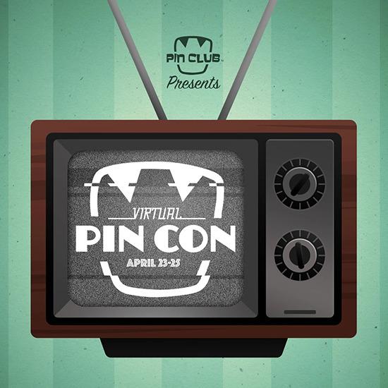 Logo for Pin Club's Virtual Pin Con April 23-25, 2021