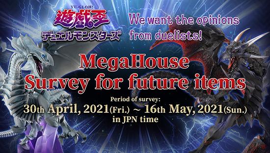 MegaHouse Yu-Gi-Oh! monster figure survey banner