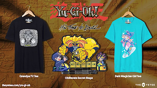 Three Yu-Gi-Oh! products by The Yetee