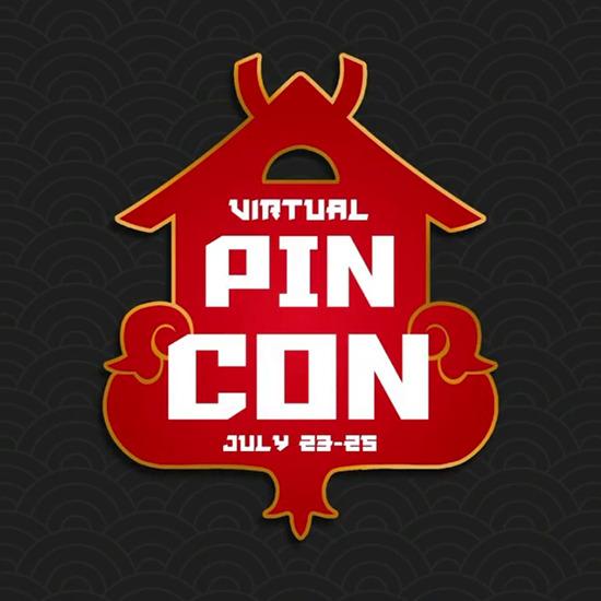 Logo for Pin Club's Virtual Pin Con July 23-25, 2021
