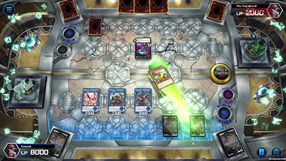 Game footage of Yu-Gi-Oh! Master Duel, as shown in Yu-Gi-Oh! Digital Next