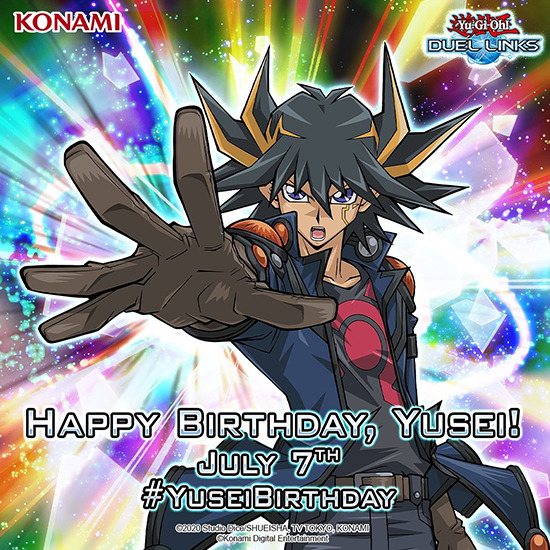 Banner for the Yusei's Birthday Giveaway