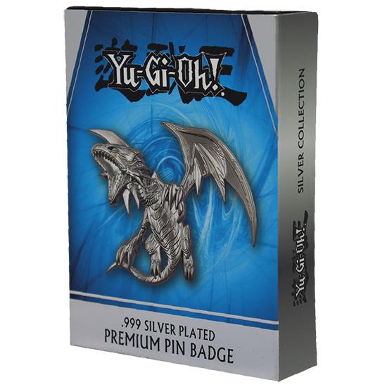 Blue-Eyes White Dragon .999 Silver Plated Premium Pin Badge box by Fanattik