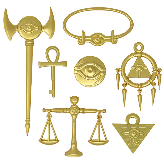 Close-up of the 24K gold-plated pieces of the Millennium Items Collection by Fanattik
